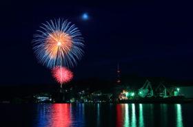 第70回 津久見港まつり 花火打ち上げが縮小開催されました。